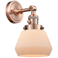 Innovations Lighting 203SW-AC-G171 Fulton 1 Light 7 inch Antique Copper Wall Sconce Wall Light