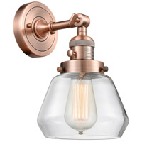 Innovations Lighting 203SW-AC-G172-LED Fulton LED 7 inch Antique Copper Wall Sconce Wall Light