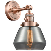 Innovations Lighting 203SW-AC-G173-LED Fulton LED 7 inch Antique Copper Wall Sconce Wall Light