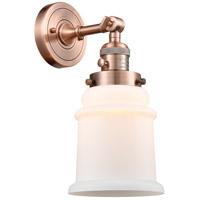 Innovations Lighting 203SW-AC-G181 Canton 1 Light 7 inch Antique Copper Sconce Wall Light Franklin Restoration