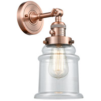 Innovations Lighting 203SW-AC-G182-LED Canton LED 7 inch Antique Copper Wall Sconce Wall Light