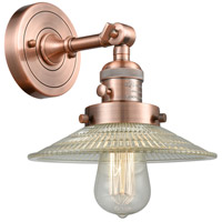 Innovations Lighting 203SW-AC-G2-LED Halophane LED 9 inch Antique Copper Wall Sconce Wall Light