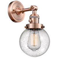 Innovations Lighting 203SW-AC-G204-6-LED Beacon LED 6 inch Antique Copper Wall Sconce Wall Light