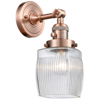 Innovations Lighting 203SW-AC-G302-LED Colton LED 6 inch Antique Copper Wall Sconce Wall Light