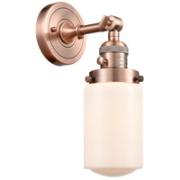 Innovations Lighting 203SW-AC-G311 Dover 1 Light 5 inch Antique Copper Sconce Wall Light Franklin Restoration