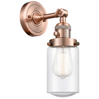 Innovations Lighting 203SW-AC-G314 Dover 1 Light 5 inch Antique Copper Sconce Wall Light Franklin Restoration