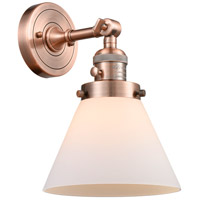 Innovations Lighting 203SW-AC-G41-LED Large Cone LED 8 inch Antique Copper Wall Sconce Wall Light