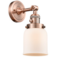 Innovations Lighting 203SW-AC-G51-LED Small Bell LED 5 inch Antique Copper Wall Sconce Wall Light