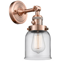 Innovations Lighting 203SW-AC-G52-LED Small Bell LED 5 inch Antique Copper Wall Sconce Wall Light