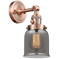 Innovations Lighting 203SW-AC-G53-LED Small Bell LED 5 inch Antique Copper Wall Sconce Wall Light