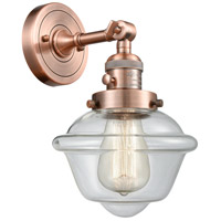 Innovations Lighting 203SW-AC-G532-LED Small Oxford LED 8 inch Antique Copper Wall Sconce Wall Light