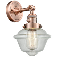 Innovations Lighting 203SW-AC-G534-LED Small Oxford LED 8 inch Antique Copper Wall Sconce Wall Light