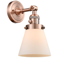Innovations Lighting 203SW-AC-G61-LED Small Cone LED 6 inch Antique Copper Wall Sconce Wall Light
