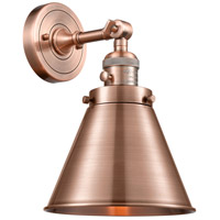 Innovations Lighting 203SW-AC-M13-AC-LED Appalachian LED 8 inch Antique Copper Sconce Wall Light Franklin Restoration
