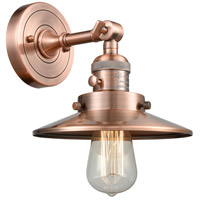 Innovations Lighting 203SW-AC-M3 Railroad 1 Light 8 inch Antique Copper Sconce Wall Light Franklin Restoration