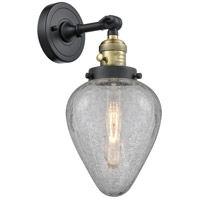 Innovations Lighting 203SW-BAB-G165 Geneseo 1 Light 7 inch Black Antique Brass Sconce Wall Light Franklin Restoration