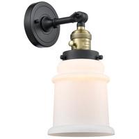 Innovations Lighting 203SW-BAB-G181 Canton 1 Light 7 inch Black Antique Brass Sconce Wall Light Franklin Restoration