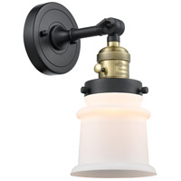 Innovations Lighting 203SW-BAB-G181S-LED Small Canton LED 7 inch Black Antique Brass Sconce Wall Light Franklin Restoration
