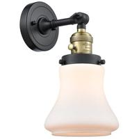Innovations Lighting 203SW-BAB-G191 Bellmont 1 Light 7 inch Black Antique Brass Sconce Wall Light Franklin Restoration