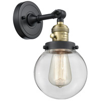 Beacon LED 6 inch Black Antique Brass Wall Sconce Wall Light