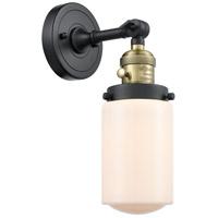 Innovations Lighting 203SW-BAB-G311 Dover 1 Light 5 inch Black Antique Brass Sconce Wall Light Franklin Restoration
