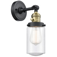 Innovations Lighting 203SW-BAB-G314 Dover 1 Light 5 inch Black Antique Brass Sconce Wall Light Franklin Restoration