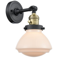 Innovations Lighting 203SW-BAB-G321 Olean 1 Light 7 inch Black Antique Brass Sconce Wall Light Franklin Restoration