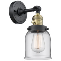 Small Bell LED 5 inch Black Antique Brass Wall Sconce Wall Light