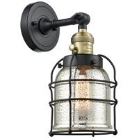 Innovations Lighting 203SW-BAB-G58-CE Small Bell Cage 1 Light 6 inch Black Antique Brass Sconce Wall Light Franklin Restoration