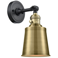 Innovations Lighting 203SW-BAB-M9-AB Addison 1 Light 5 inch Black Antique Brass Sconce Wall Light Franklin Restoration