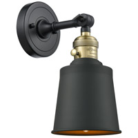 Innovations Lighting 203SW-BAB-M9-BK Addison 1 Light 5 inch Black Antique Brass Sconce Wall Light Franklin Restoration