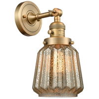 Chatham 1 Light 6 inch Brushed Brass Wall Sconce Wall Light