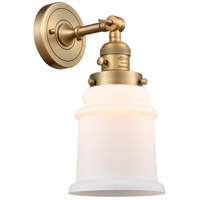 Innovations Lighting 203SW-BB-G181-LED Canton LED 7 inch Brushed Brass Sconce Wall Light Franklin Restoration