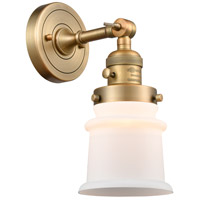Innovations Lighting 203SW-BB-G181S-LED Small Canton LED 7 inch Brushed Brass Sconce Wall Light Franklin Restoration