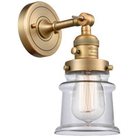 Innovations Lighting 203SW-BB-G182S-LED Small Canton LED 7 inch Brushed Brass Sconce Wall Light Franklin Restoration