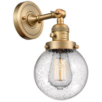 Innovations Lighting 203SW-BB-G204-6-LED Beacon LED 6 inch Brushed Brass Wall Sconce Wall Light