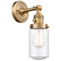 Innovations Lighting 203SW-BB-G314 Dover 1 Light 5 inch Brushed Brass Sconce Wall Light Franklin Restoration