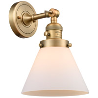 Innovations Lighting 203SW-BB-G41 Large Cone 1 Light 8 inch Brushed Brass Wall Sconce Wall Light
