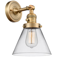 Innovations Lighting 203SW-BB-G42 Large Cone 1 Light 8 inch Brushed Brass Wall Sconce Wall Light