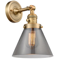 Innovations Lighting 203SW-BB-G43 Large Cone 1 Light 8 inch Brushed Brass Wall Sconce Wall Light