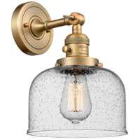 Innovations Lighting 203SW-BB-G74 Large Bell 1 Light 8 inch Brushed Brass Wall Sconce Wall Light