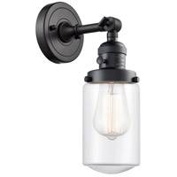 Innovations Lighting 203SW-BK-G312 Dover 1 Light 5 inch Matte Black Sconce Wall Light Franklin Restoration