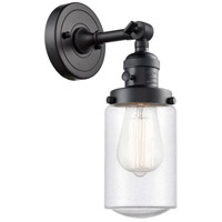 Innovations Lighting 203SW-BK-G314 Dover 1 Light 5 inch Matte Black Sconce Wall Light Franklin Restoration
