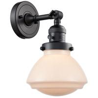 Innovations Lighting 203SW-BK-G321 Olean 1 Light 7 inch Matte Black Sconce Wall Light Franklin Restoration