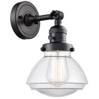 Innovations Lighting 203SW-BK-G322 Olean 1 Light 7 inch Matte Black Sconce Wall Light Franklin Restoration