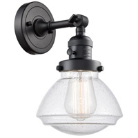 Innovations Lighting 203SW-BK-G324 Olean 1 Light 7 inch Matte Black Sconce Wall Light Franklin Restoration