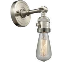 Innovations Lighting 203SWBP-NH-SN Bare Bulb 1 Light 5 inch Satin Nickel Sconce Wall Light Franklin Restoration