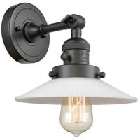 Innovations Lighting 203SW-OB-G1 Halophane 1 Light 9 inch Oil Rubbed Bronze Sconce Wall Light Franklin Restoration