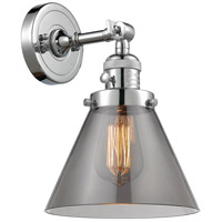 Innovations Lighting 203SW-PC-G43 Large Cone 1 Light 8 inch Polished Chrome Wall Sconce Wall Light