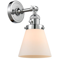 Innovations Lighting 203SW-PC-G61-LED Small Cone LED 6 inch Polished Chrome Wall Sconce Wall Light